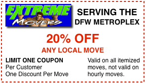 Extreme Movers  Coupon Fort Worth TX